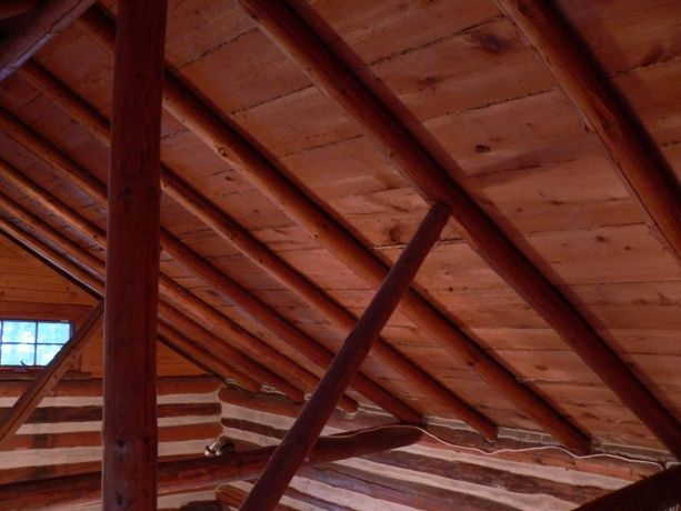 cathredral ceilings | Log Cabin Cathedral Ceiling ...