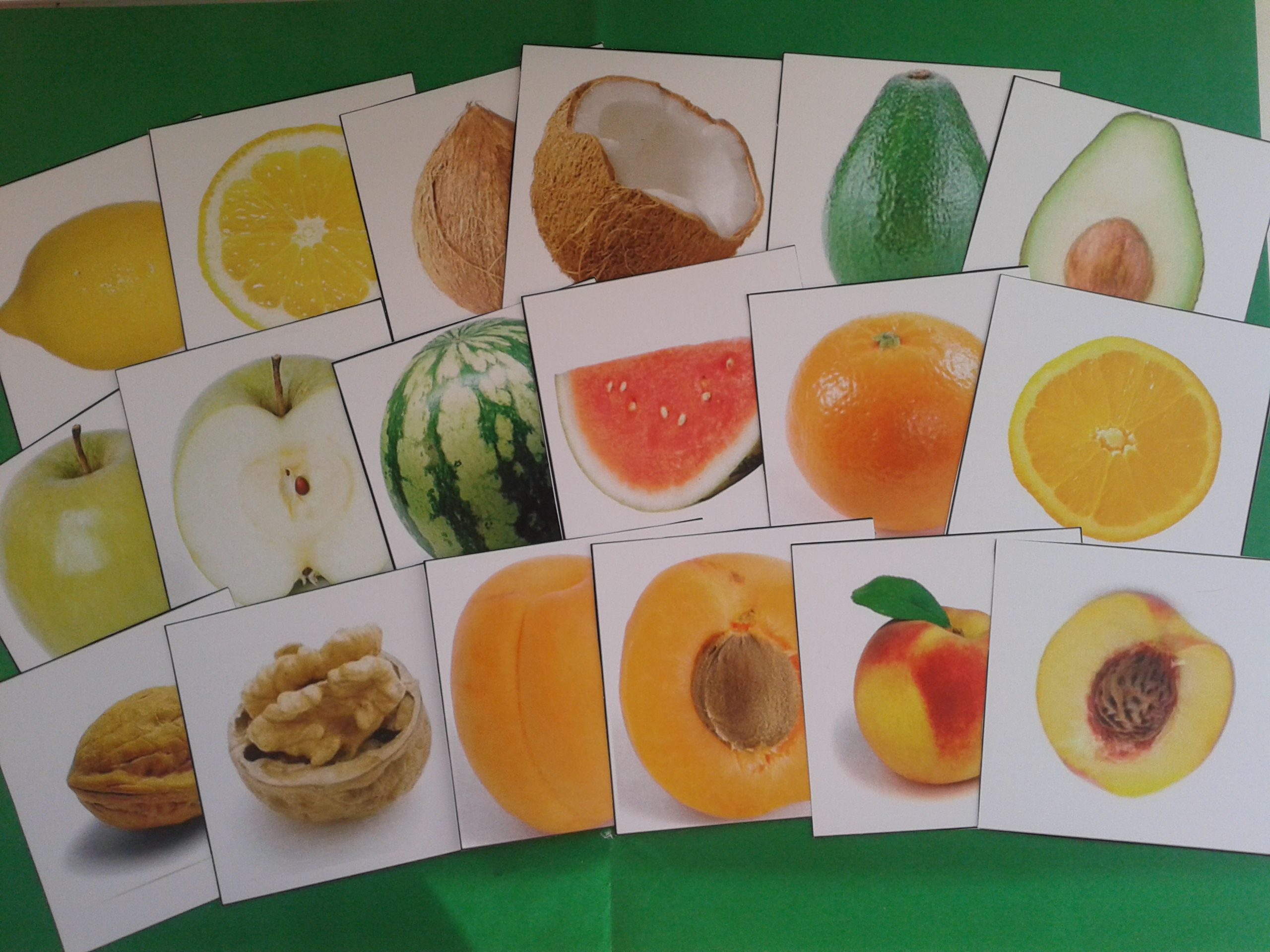 Fruit Inside And Outside Matching Activity With Labels