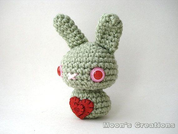 Zombie Love Moon Bun  Amigurumi Undead Bunny by MoonsCreations, $17.00