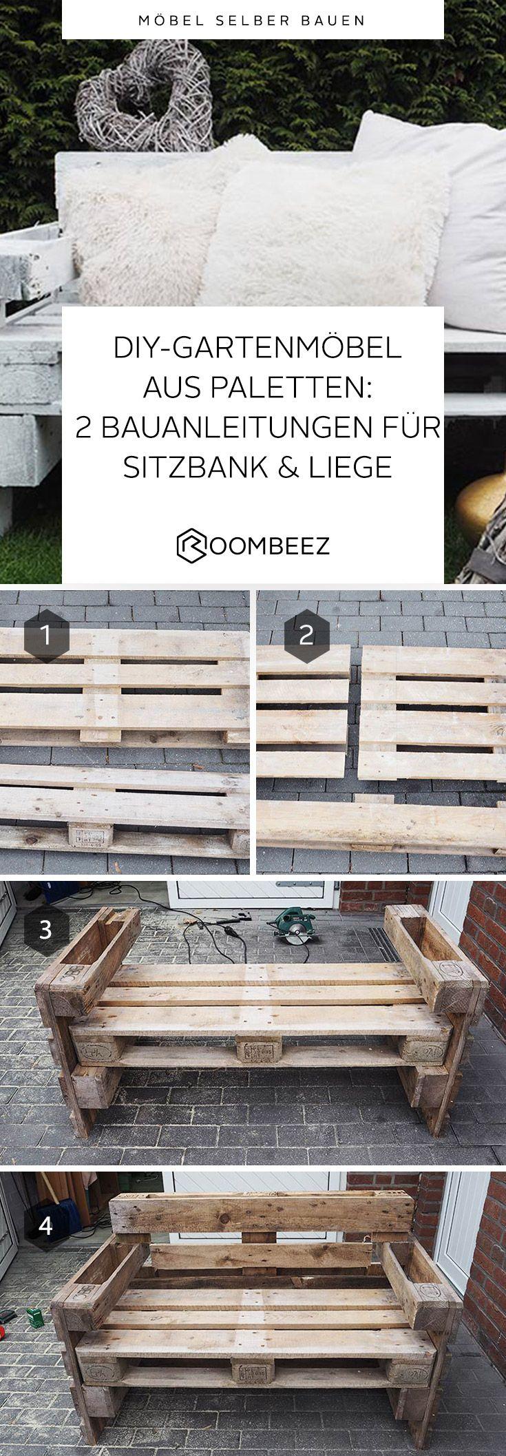 2 DIY Anleitungen: Gartenmöbel aus Paletten