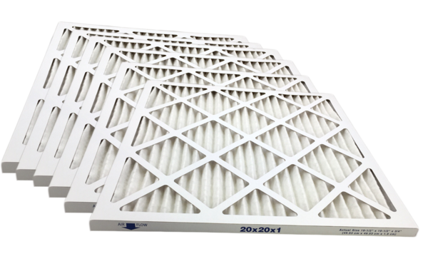 Merv 8 Pleated HVAC Filters Made In the USA Case of 6