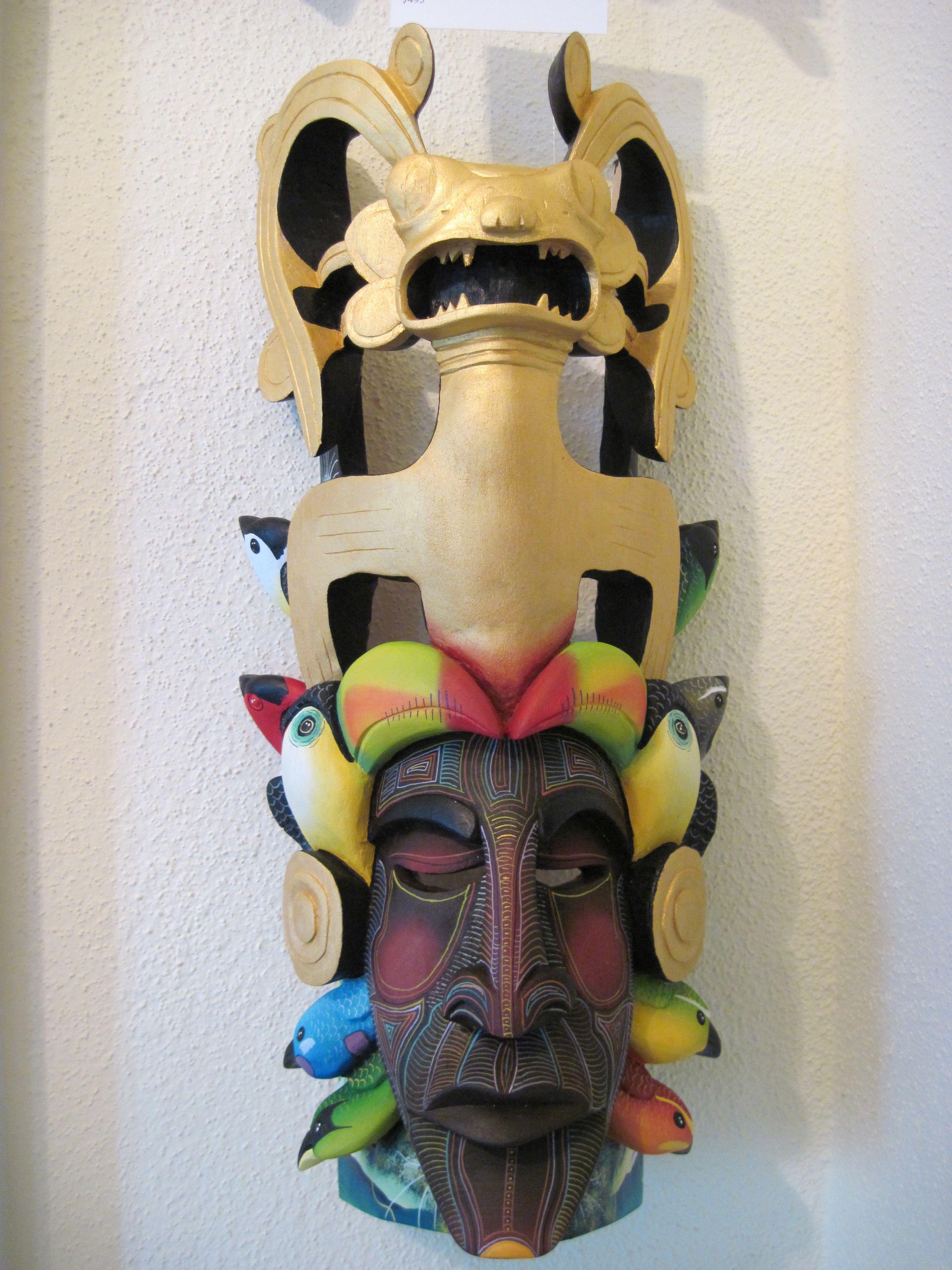 Golden Aztec Crown by Bernardo Gonzales Morales (photo by Judy Bell 2010 495)