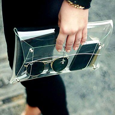 [$11.11] Women's Fashion Transparent Clutch