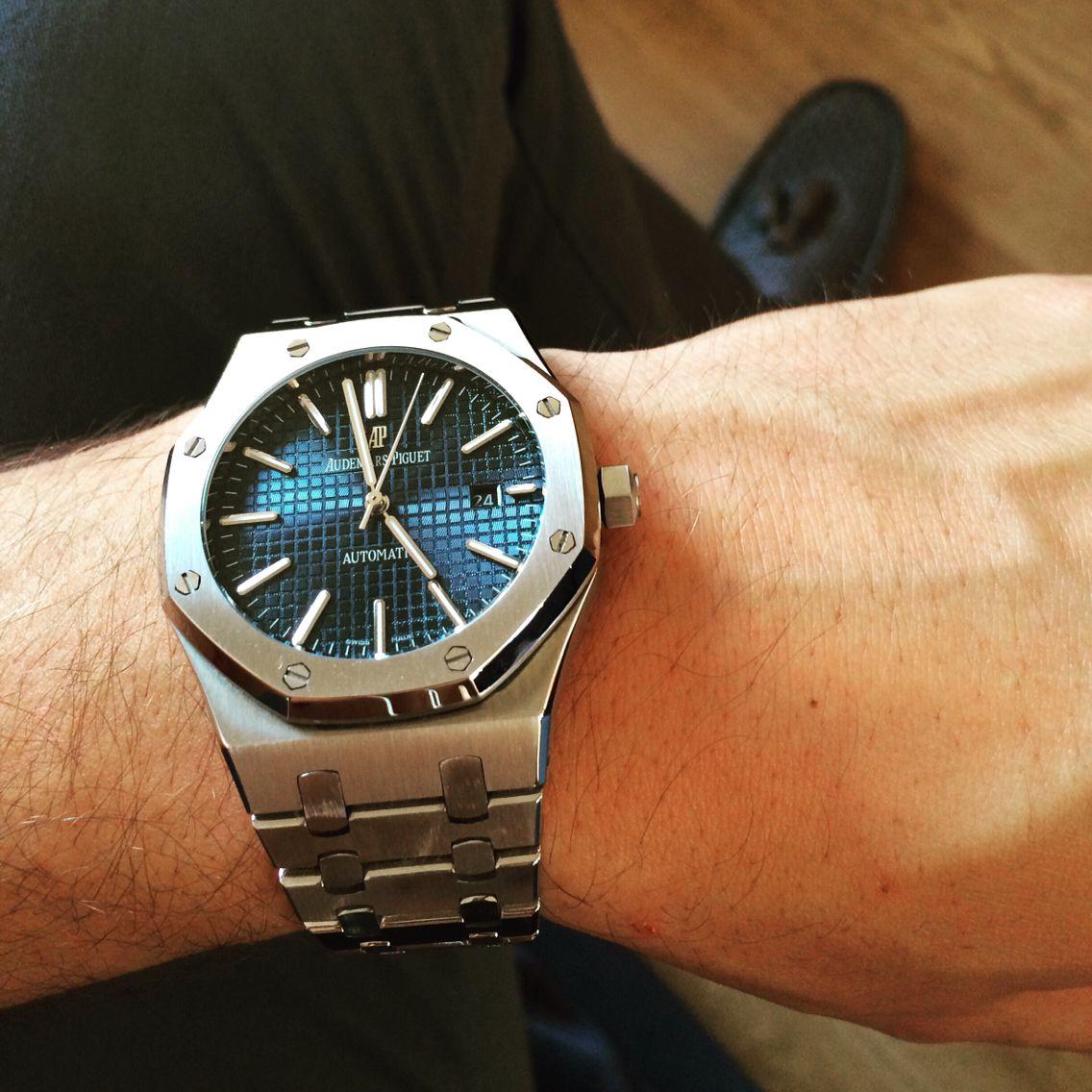 Audemars Piguet Royal Oak 15400 Steel Blue Dial | Watch ...
