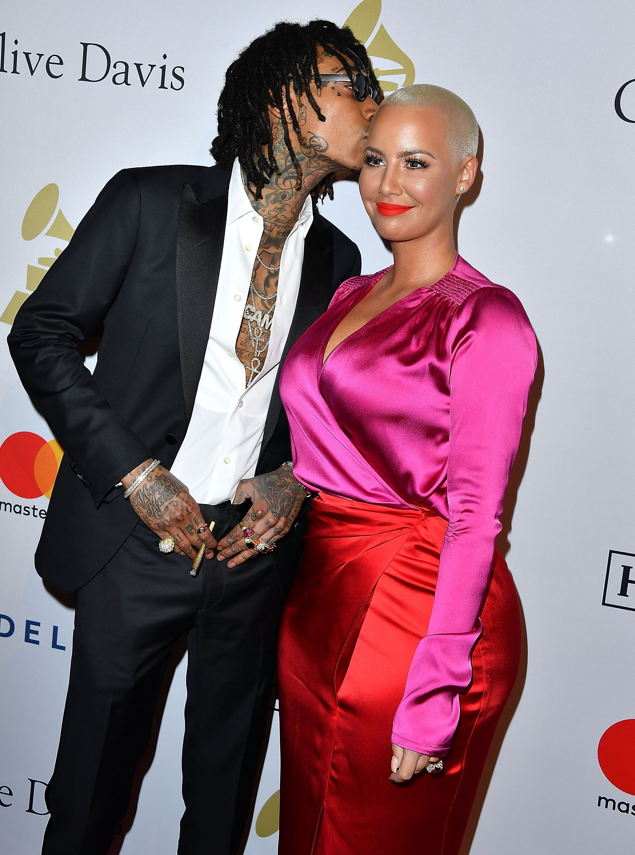 Amber Rose Officially Covers Wiz Khalifa Tattoo With