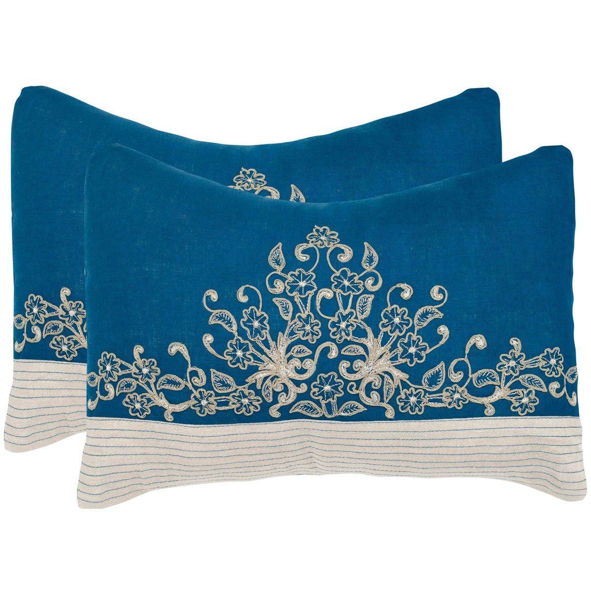 Safavieh Dec326a 1220 Set2 Elena Royal Blue Decorative