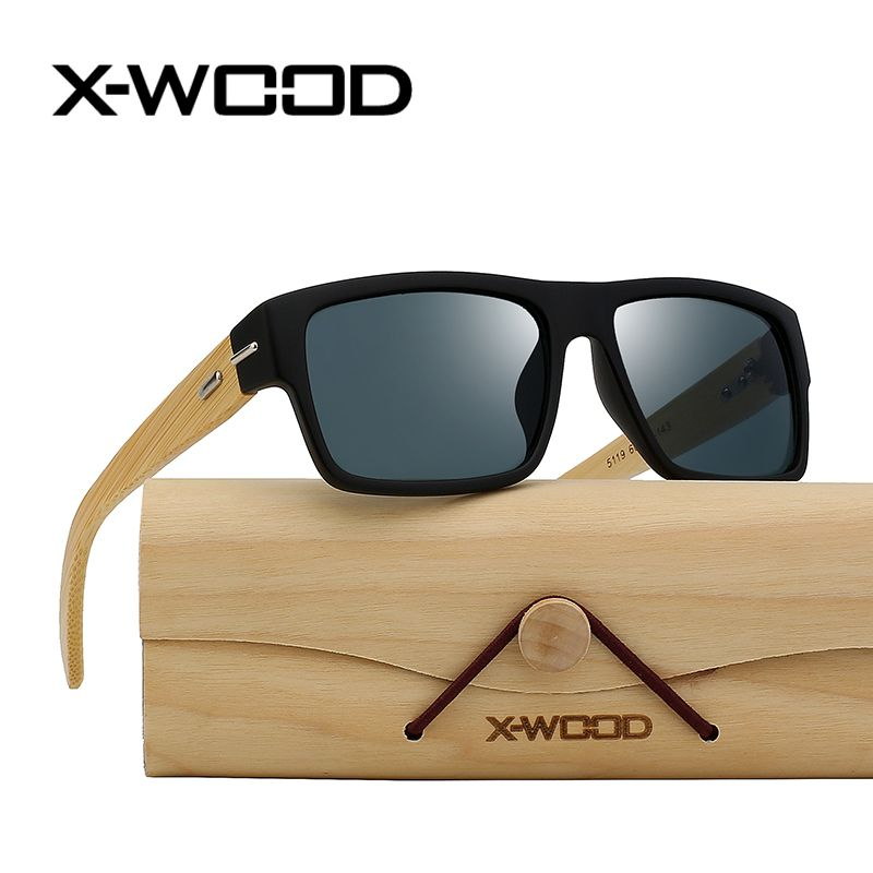 ac1afc796a22 Find More Sunglasses Information about X WOOD Natural Bamboo Frame Sunglasses  Men Women Fashion Sunglass Handmade High Quality Rectangle Green Mirror Sun  ...