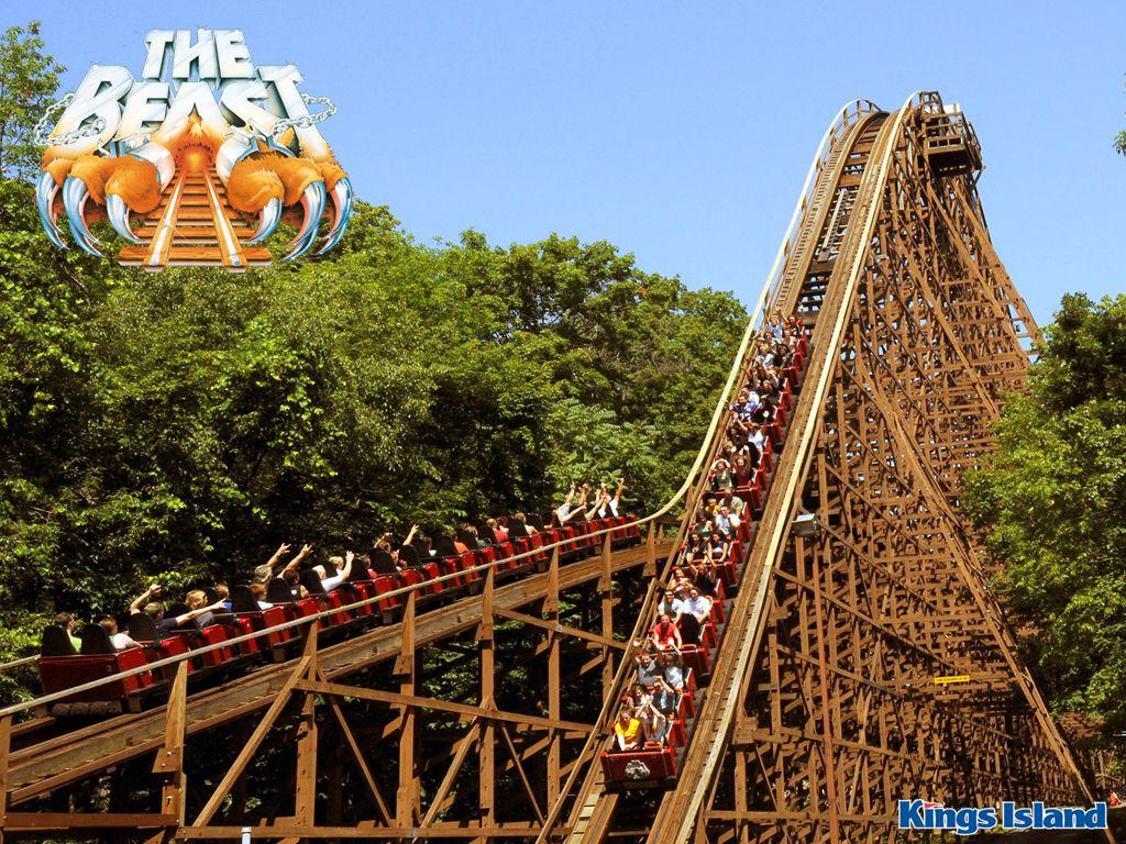 The Beast - Kings Island - Ohio ~~ I like wooden roller coasters ...