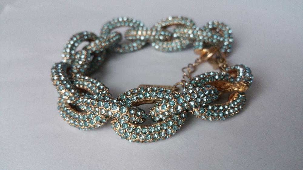 Baublebar Blue Pave Link Bracelet