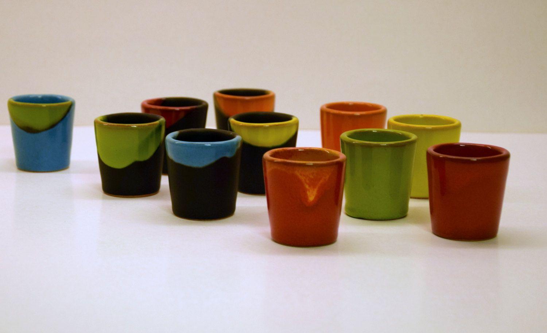 Ceramic shots by thestonewarepottery on Etsy