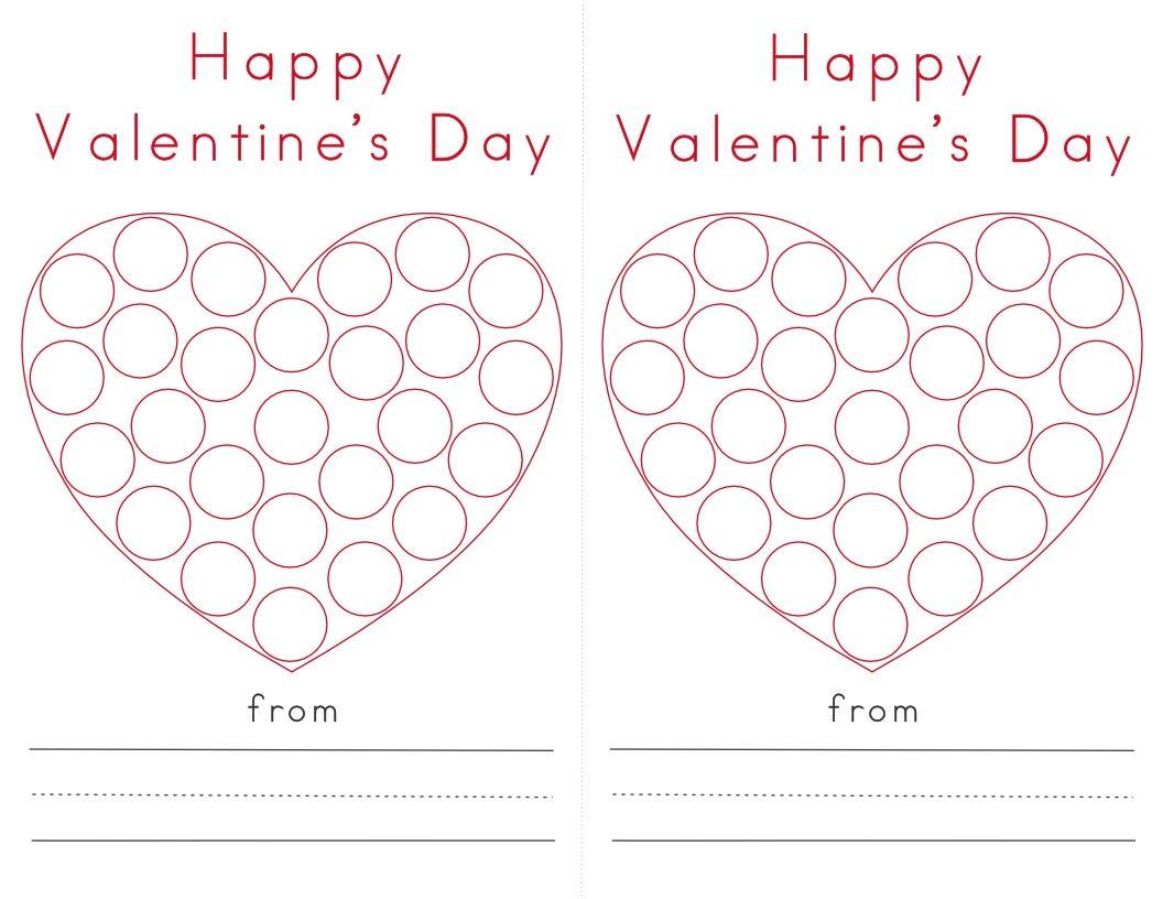 Valentine Heart Do A Dot Printables