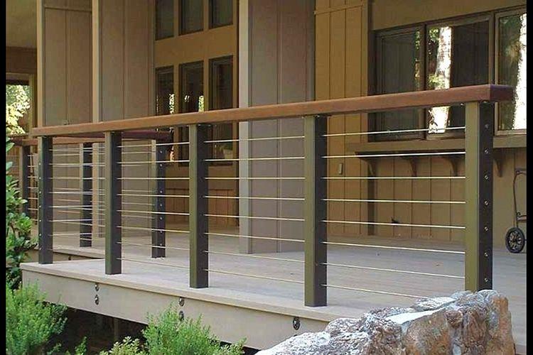 patio railing ideas | Modern Deck and Deck Railing Ideas - Montreal ...