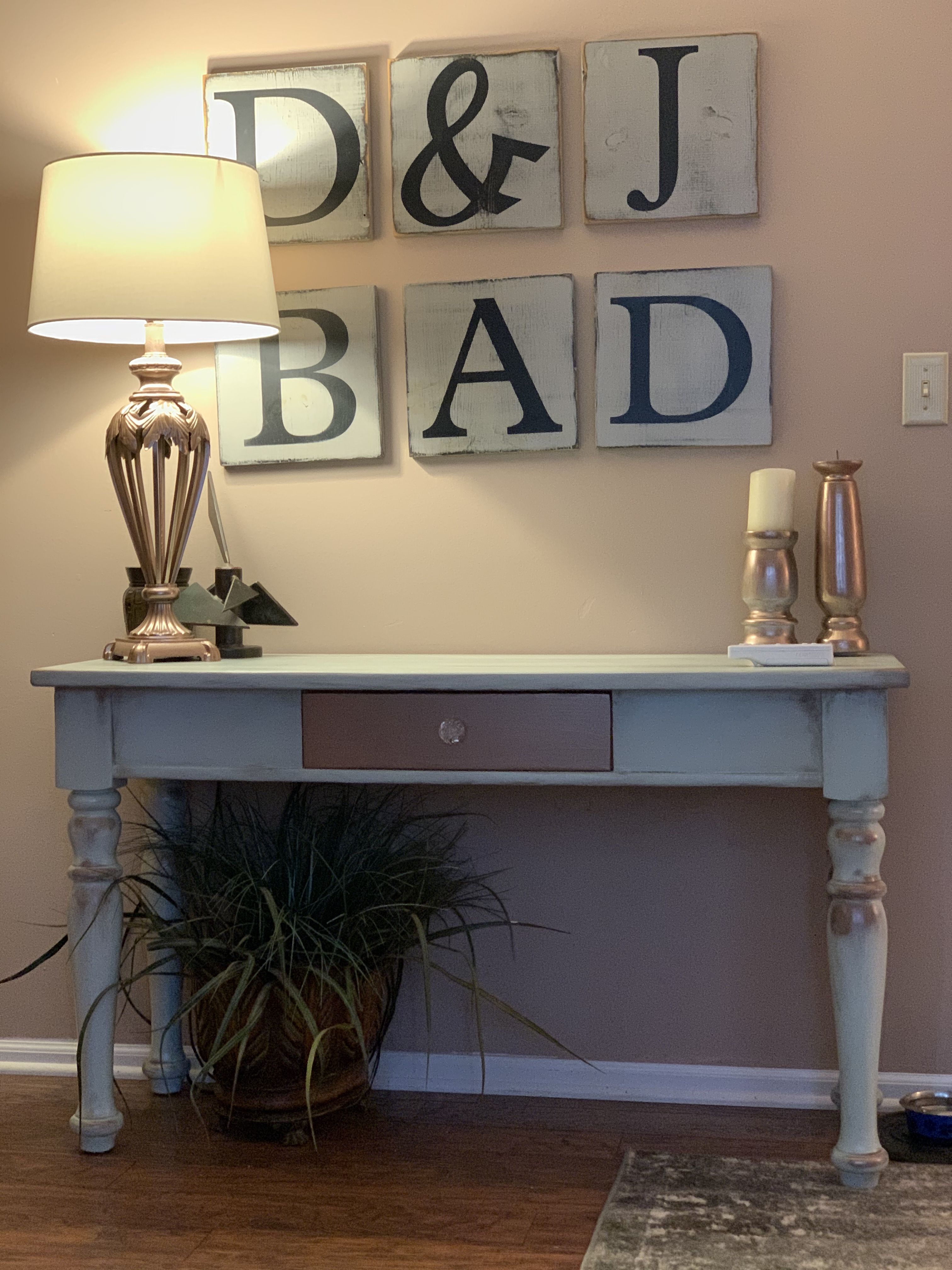Before And After Sofa Table In 2020 Redo Furniture Painted Sofa Sofa Table