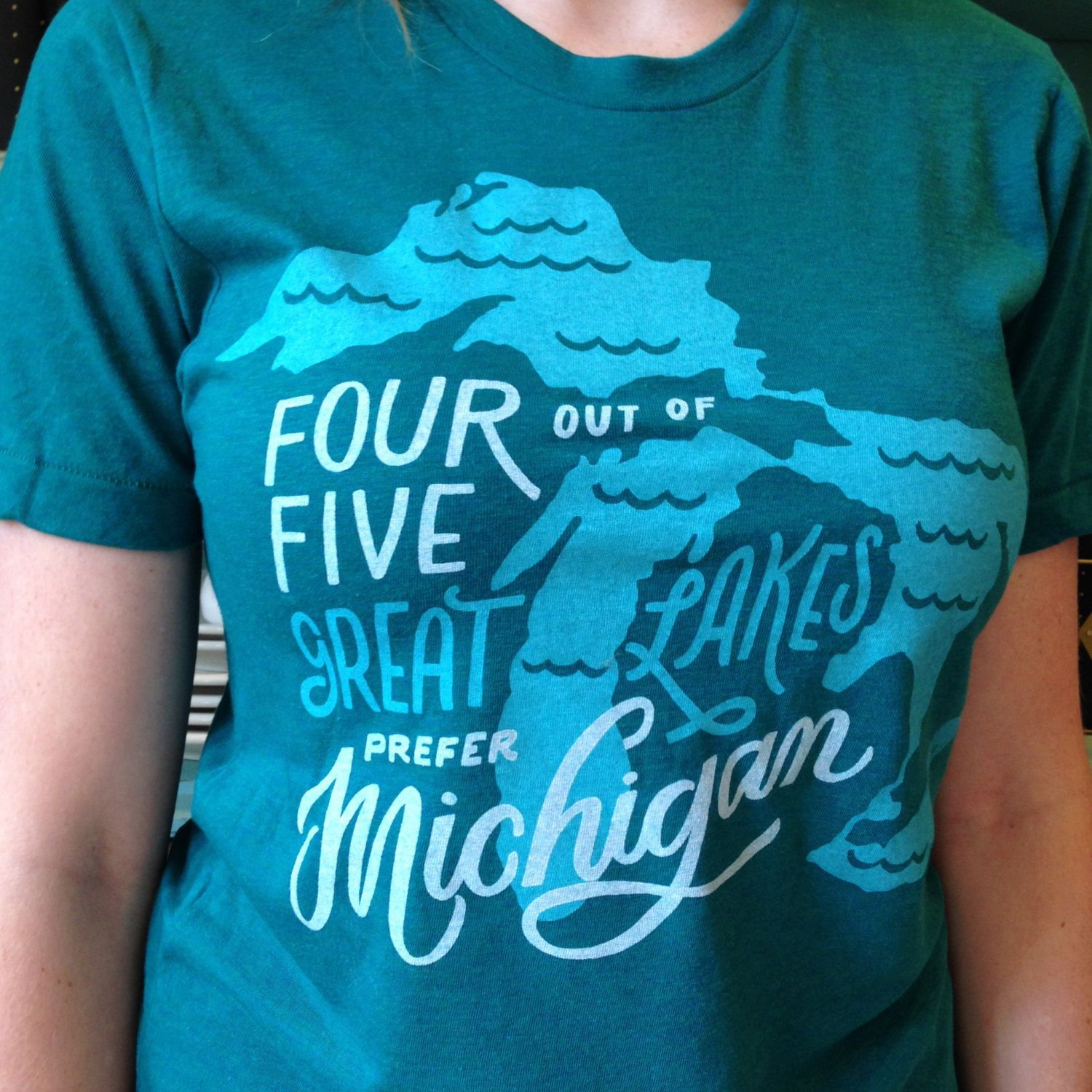 Four Out Of Five Great Lakes Prefer Michigan T Shirt By