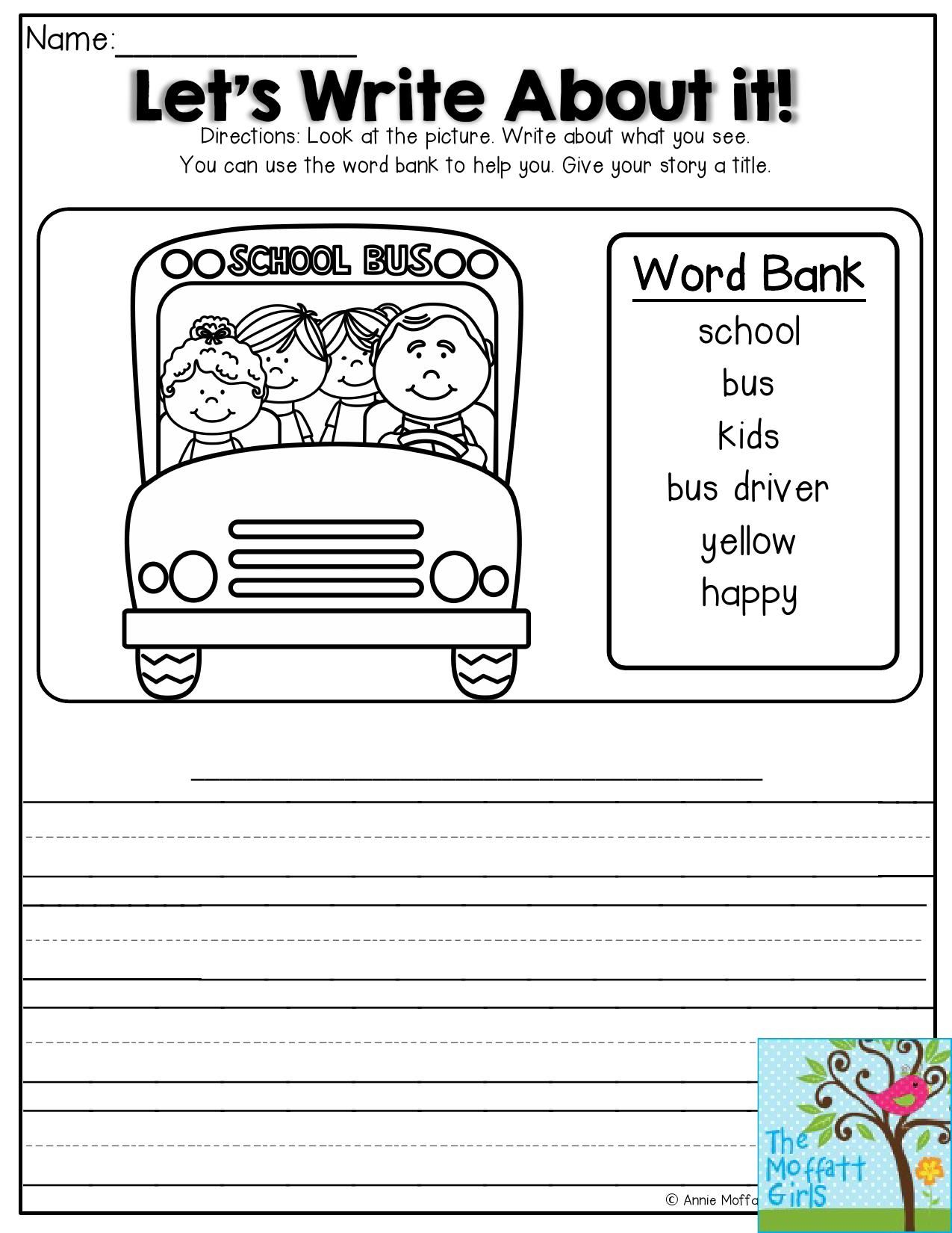 Let S Write About It Look At The Picture And Write About It Fun Journal Prompt For Bac Word Puzzles For Kids Journal Prompts For Kids Picture Writing Prompts