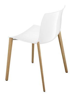 chaise empilable catifa 53 / coque unie - pieds bois | shops et ... - Chaise Pied En Bois
