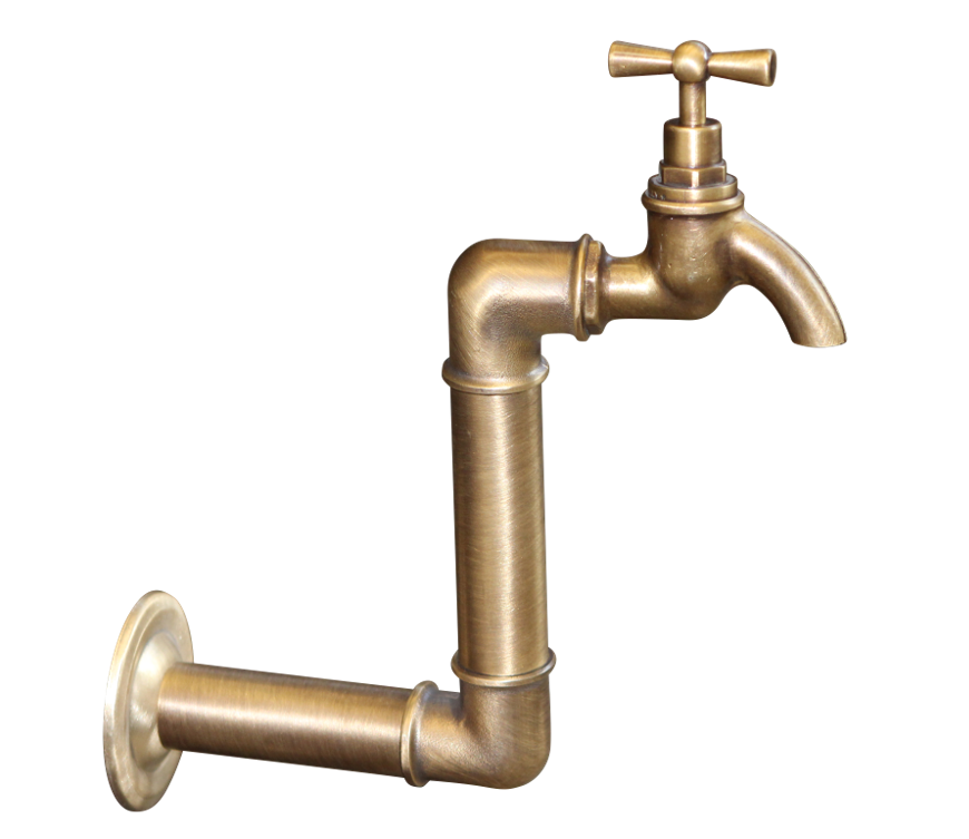 Bt17 No 2 Wall Mounted Traditional Bib Brass Taps Wall Mount Brass Tap Bespoke Handles