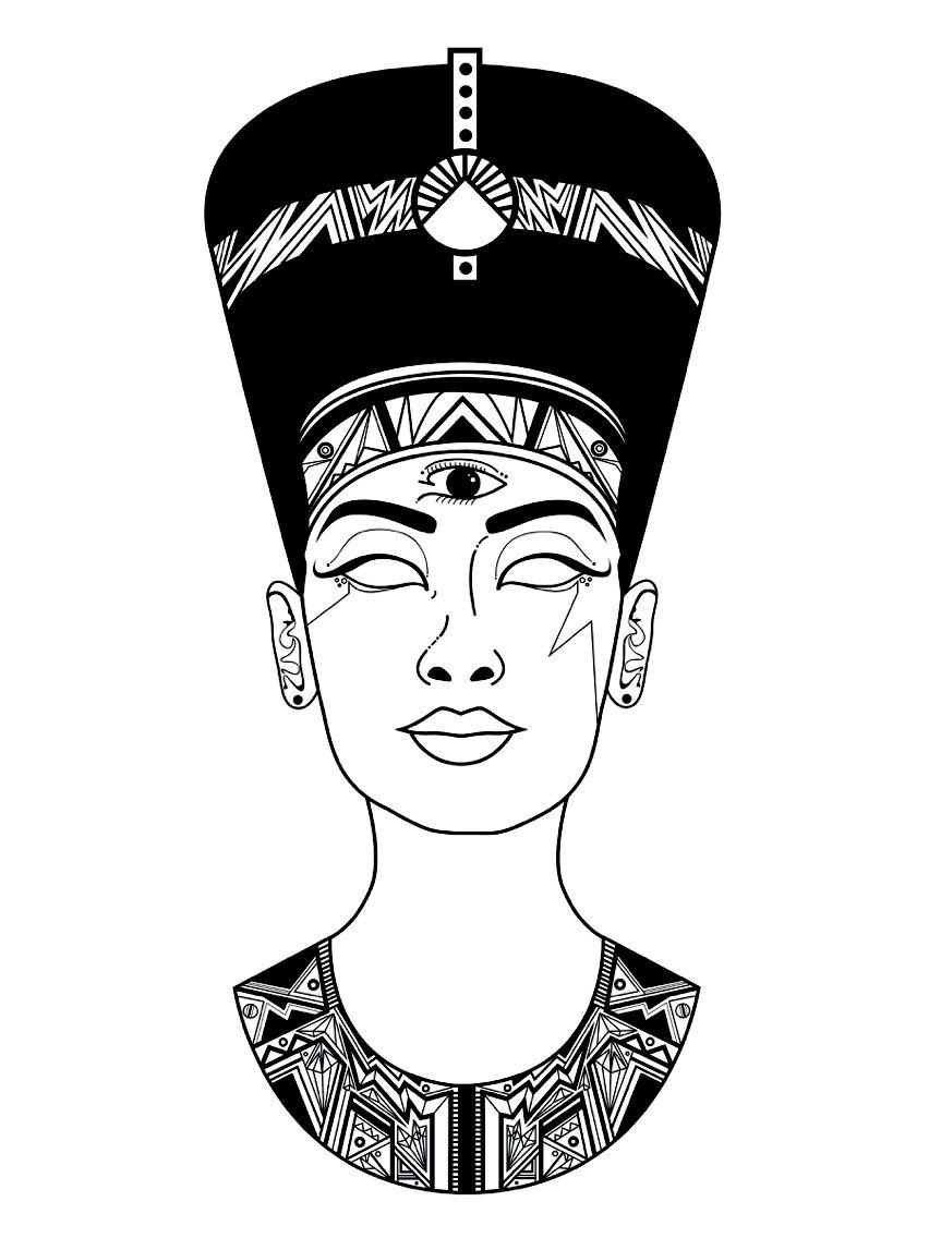 queen nefertiti tattoo drawing - Google Search | Tatuagem ... |Nefertiti Tattoo Drawing