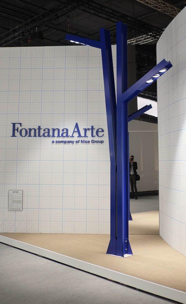 fontana arte blue contemporary street light from 2014 frankfurt