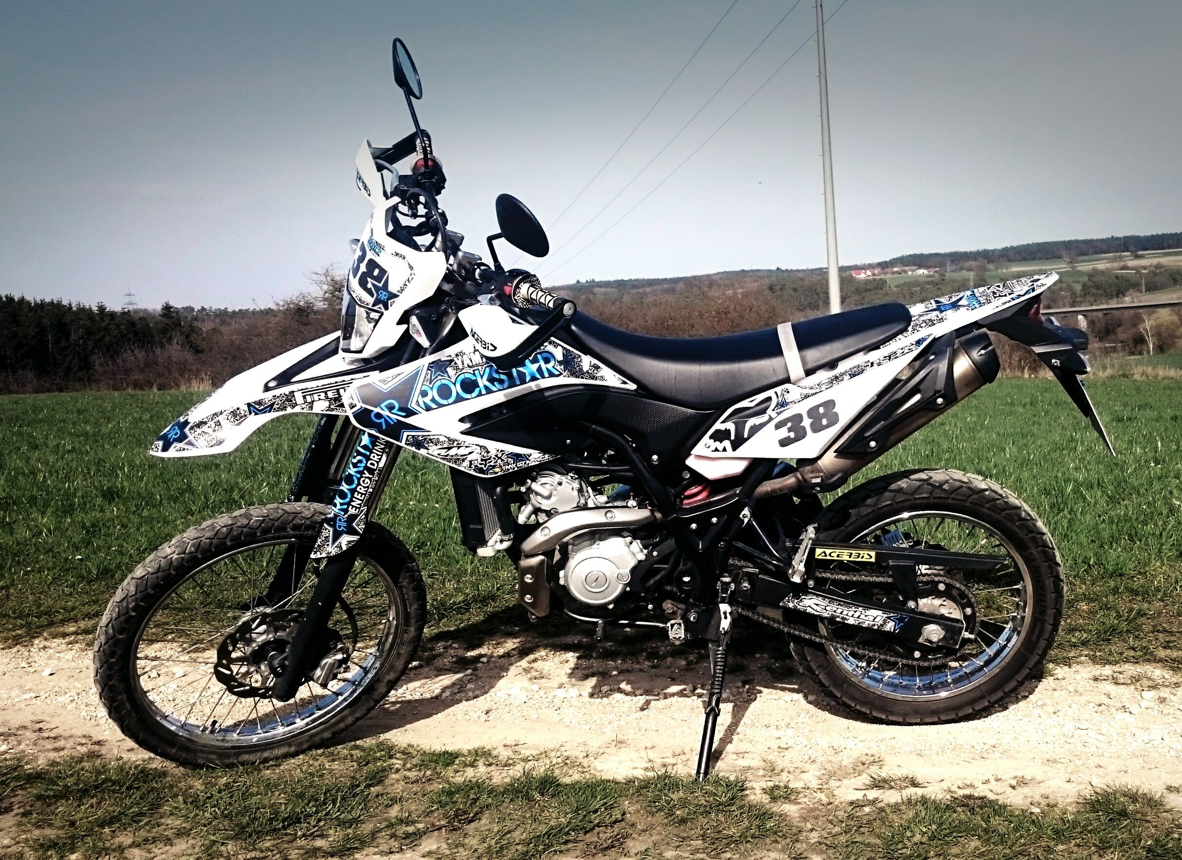 Yamaha wr 125 r rockstar design 38 from tmx graphics
