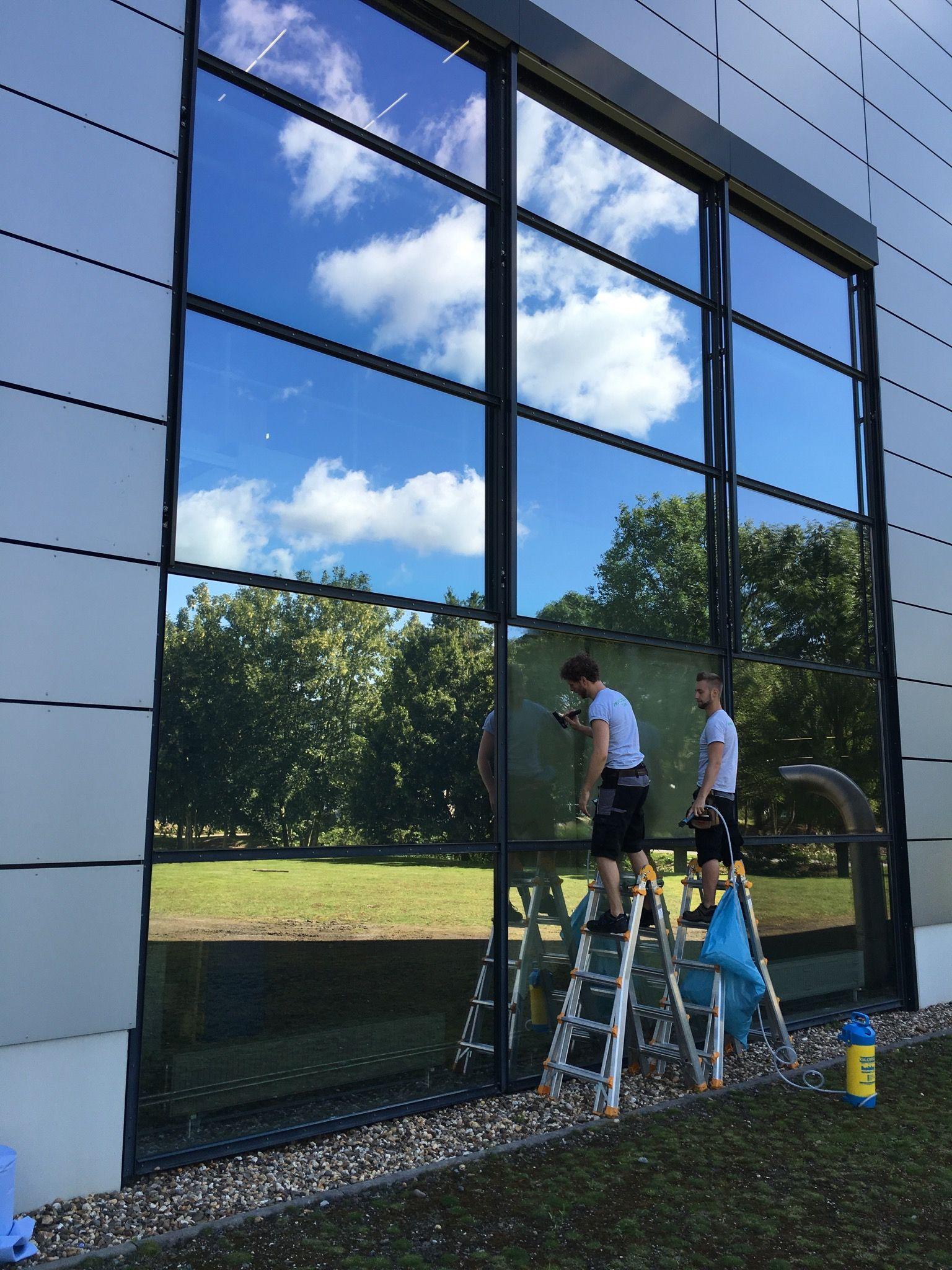 Sonnen Und Sichtschutz Mit Spiegelfolie Gewerbebetrieb Sichtschutzfolie Fenster Fensterfolie Sichtschutzfolie