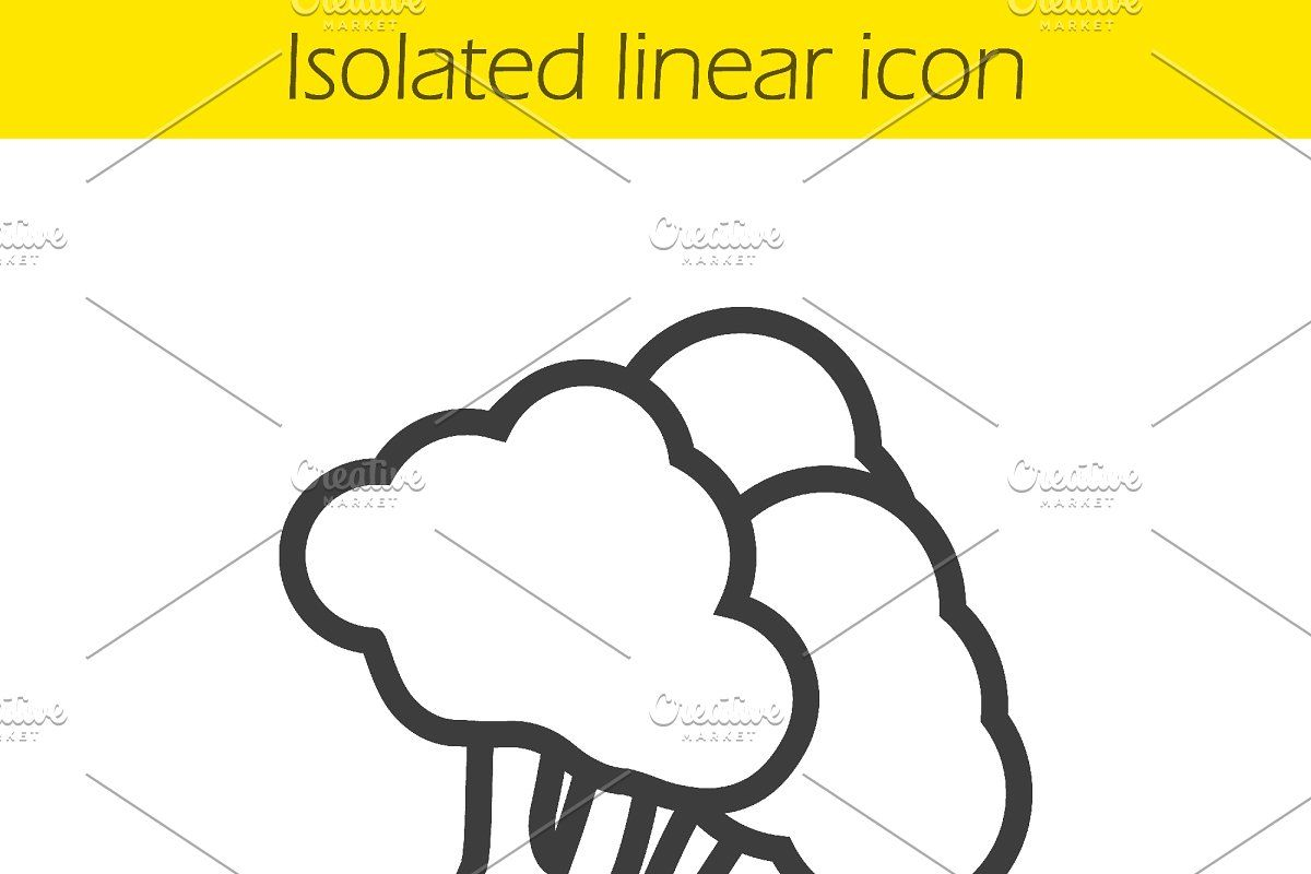 broccoli linear icon vector in 2020 icon line illustration outline drawings broccoli linear icon vector in 2020