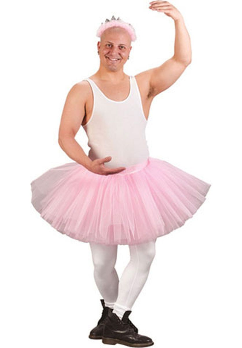 male ballerina fancy dress mens joke stag do party HILARIOUS fun outfit