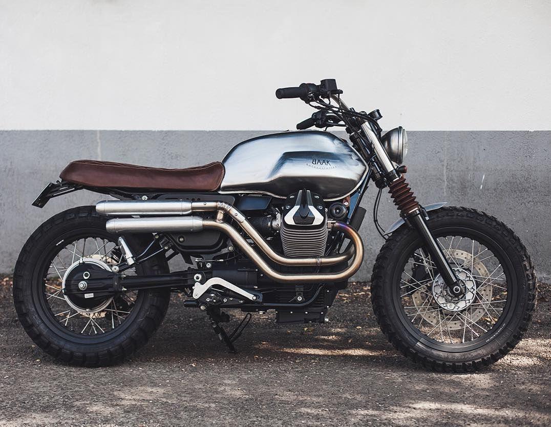 On BikeBound.com: Moto Guzzi V7 #scrambler by @baakmotocyclettes of France.