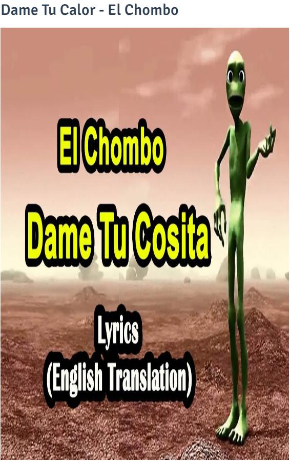 Dame Tu Cosita English Translation Lyrics Of English Songs Spanish Songs Song Hindi