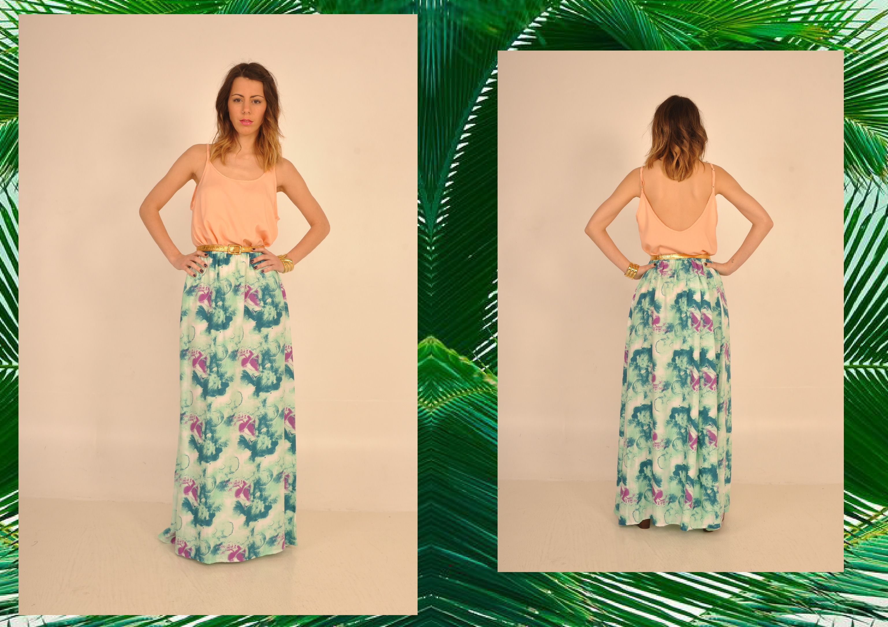 #pollera #larga #dia #noche #style #fashion #fashionista #primavera #verano #comodo #usable #femenino #chic #canchero #lasvaskas