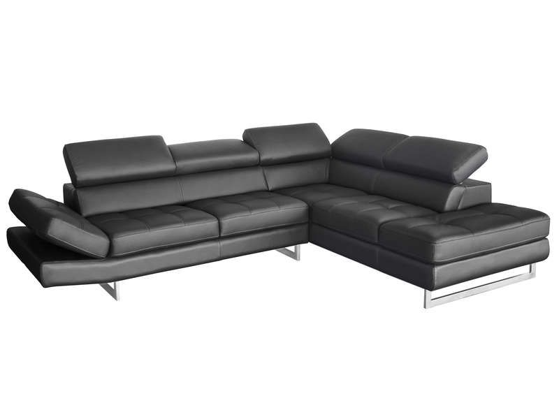 Canape D Angle Fixe Droit 5 Places En Cuir Leman Canape Conforama Sectional Couch Furniture Couch