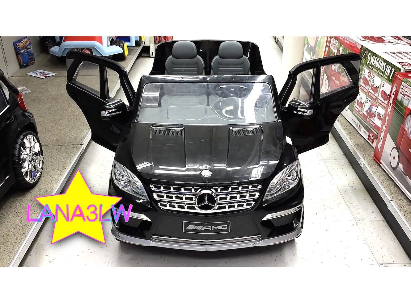 mercedes ml63 kids electric ride on car power test drive toys r us