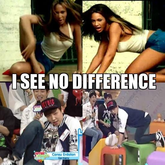 I see No Difference 100% Chanyong doing his Beyonce dance ...