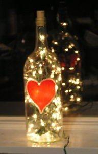 Una botella de vino decorada para pasar una rom ntica - Decoraciones san valentin ...