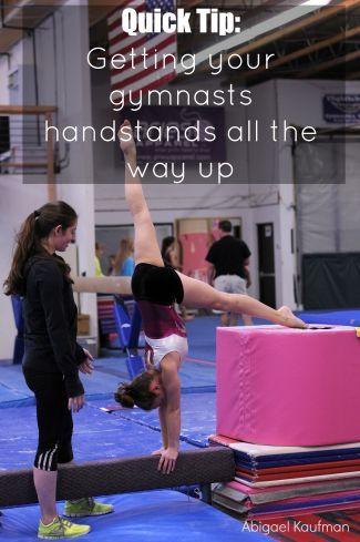 quick tip handstands on beam  swing big gymnastics blog