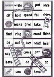 English worksheet: Irregular verbs - Snakes and ladders ...
