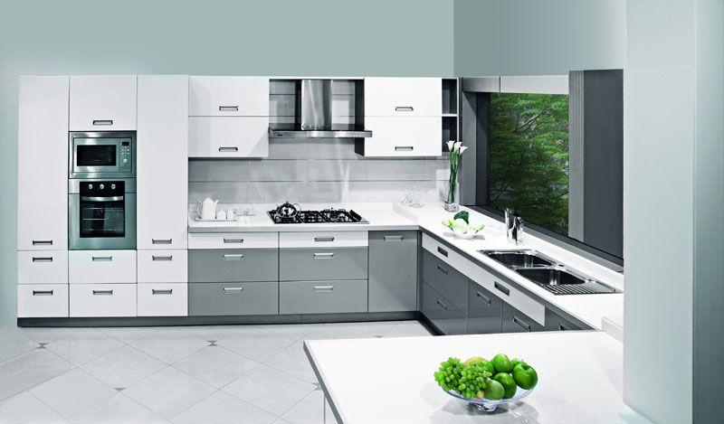 silver sleek sophisticated c shaped kitchen design sleek kitchen design sleek kitchen luxury on c kitchen design id=79723