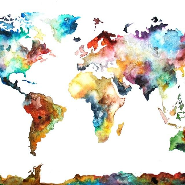 Borders are overrated motivation pinterest watercolor instagram post by prepare my mission may 15 2014 at 156am utc world map gumiabroncs Images