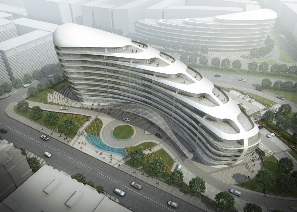 Gallery Of Baku White City Office Building Proposal Adec Azerbaijan Development Company 1 Building Development Office Building Modern Architecture Building