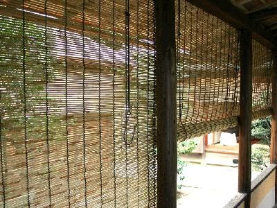 Asian outdoor bamboo blinds