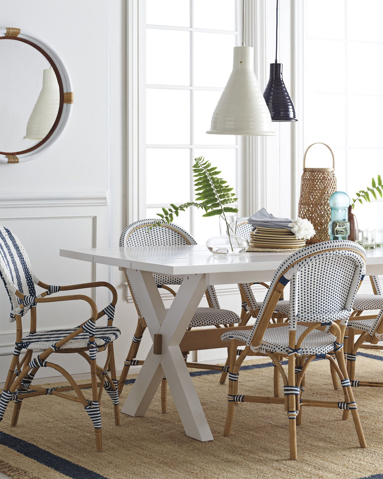 Serena & Lily Riviera Side Chair  Side Chair Counter Stool And Unique Designer Kitchen Tables Review