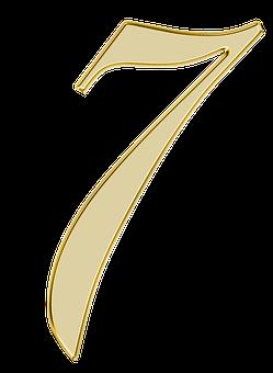 Numero 7 Siete Digito De Fondo Desenho Tattoo Alfabeto