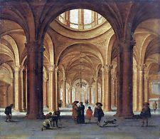 JAN VAN DER VUCHT (1603-1637) KIRCHENINTERIEUR - MIT EXPERTISE DES RKD DEN HAAG