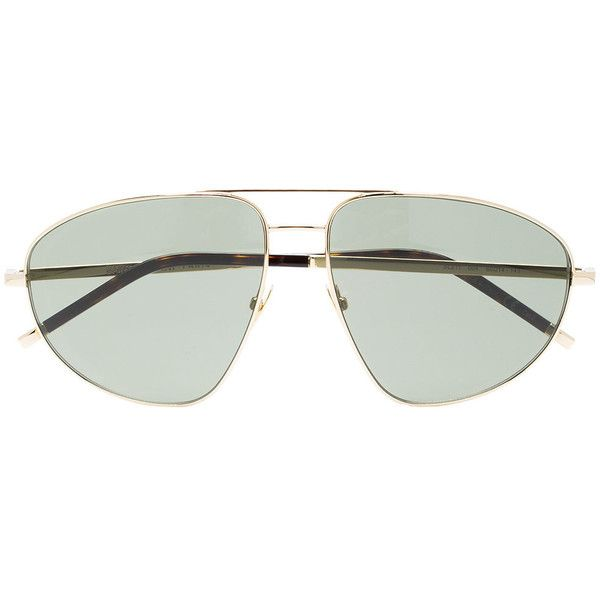 6c54ce6a82b7 Saint Laurent SL211 aviator sunglasses ( 330) ❤ liked on Polyvore featuring  men s fashion