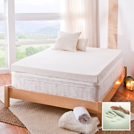 Spa Sensations By Zinus 4 Memory Foam Mattress Topper Multiple Sizes With Theratouc In 2020 Mattress Topper Reviews Foam Mattress Topper Memory Foam Mattress Topper
