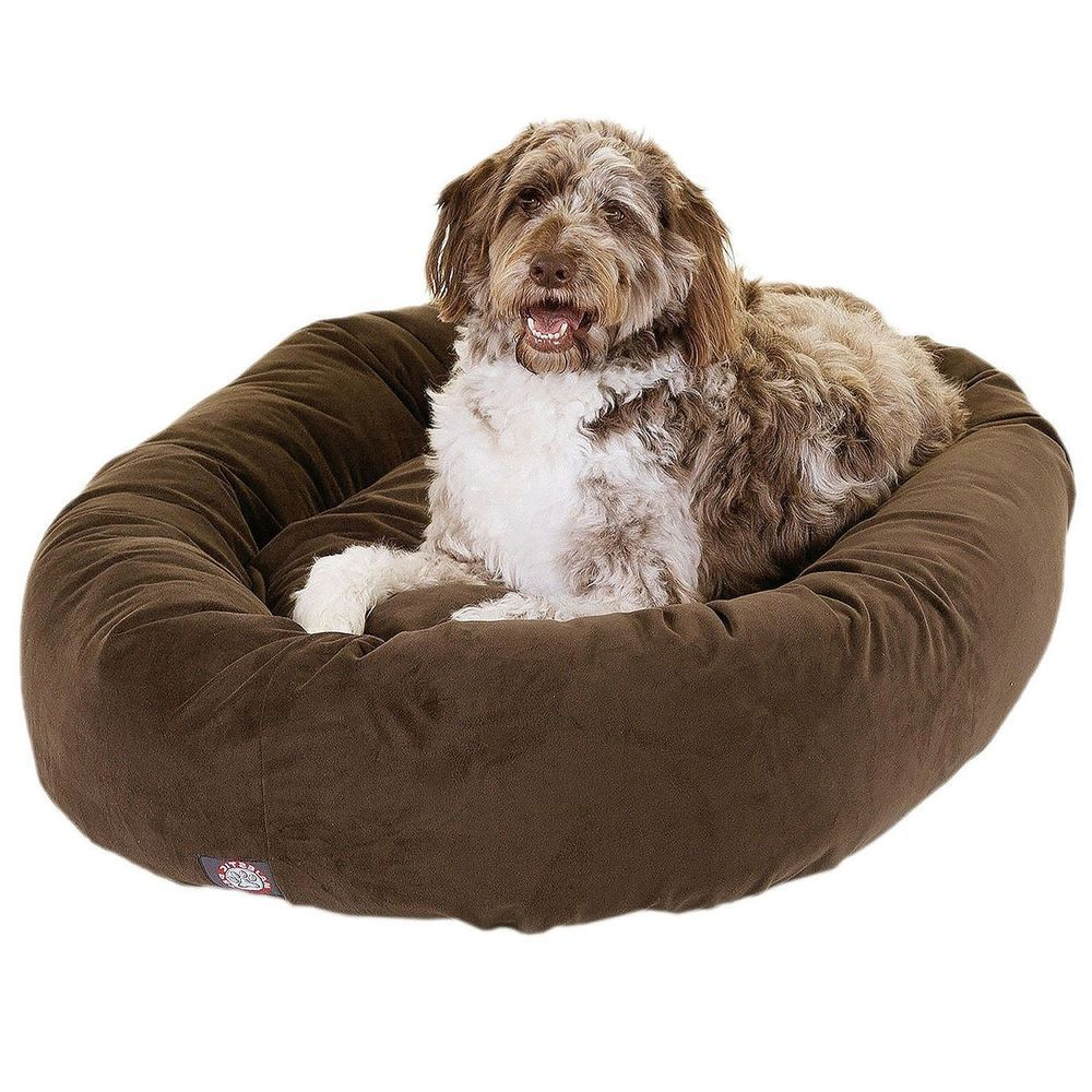Bagel Dog Bed Extra large Pets 110lbs Orthopedic Bolster