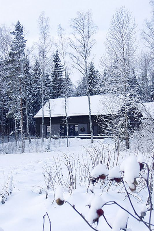Omakin Talomme ja talvimaisema sen ympärillä voisi näyttää juuri tällaiselta, kuin tämä Kannustalon Lato.