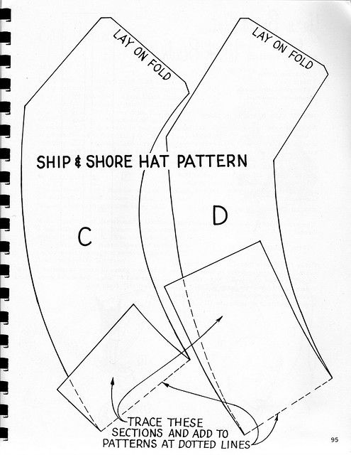 Hat for Ship and Shore | Gorros, Tocado y Costura