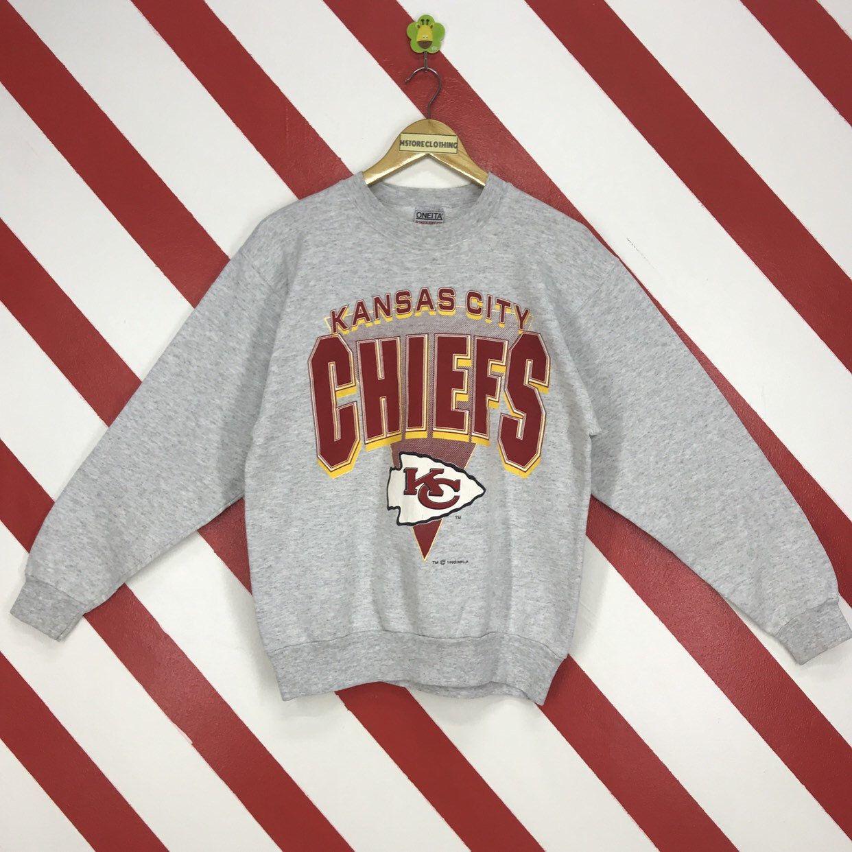 Vintage 90s Kansas City Chiefs Sweatshirt Crewneck Kansas