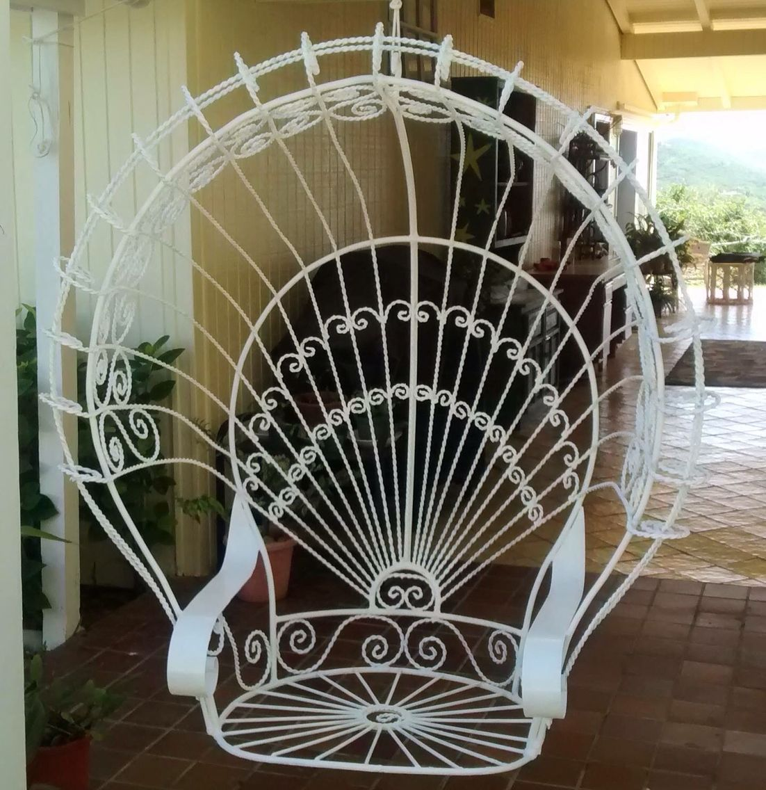 Hanging metal peacock chair! | Art with Colleen ...
